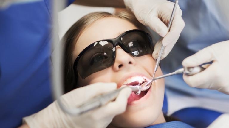visitng the dentist